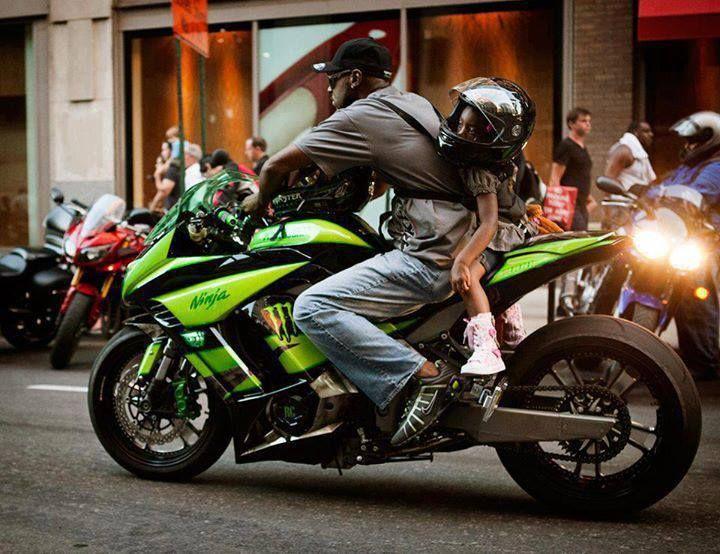in moto con papà 3